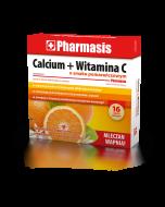 Calcium + Witamina C Pharmasis  o smaku pomarańczowym