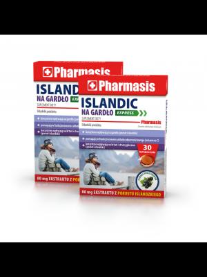 2x Islandic na gardło EXPRESS Pharmasis