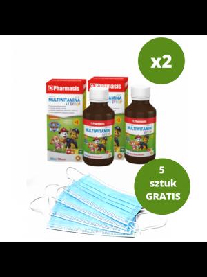 2x Multiwitamina Syrop + 5x maseczek medycznych