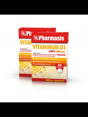 2x Vitaminum D3 FORTE 2000 j.m. Pharmasis