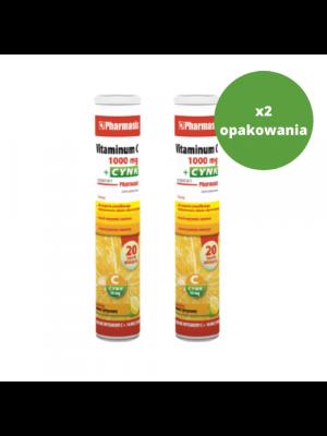 2x Vitaminum C 1000 + Cynk