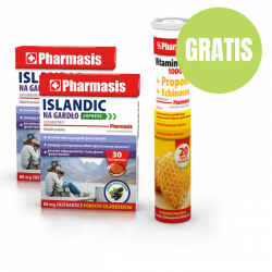 2x Islandic na gardło + Vit. C 1000 mg+Propolis+Echinacea GRATIS