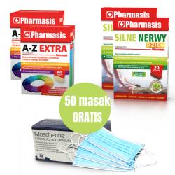 2x A-Z EXTRA, 2x Silne Nerwy + 50 maseczek GRATIS