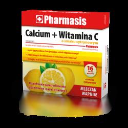 Calcium + Witamina C Pharmasis  o smaku cytrynowym