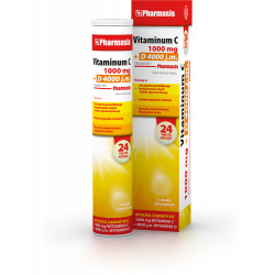 VITAMINUM C 1000 mg + D 4000 Pharmasis