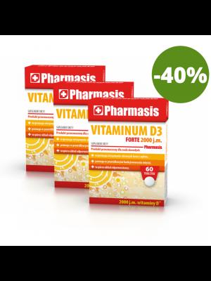 3x Vitaminum D3 FORTE 2000 j.m. Pharmasis