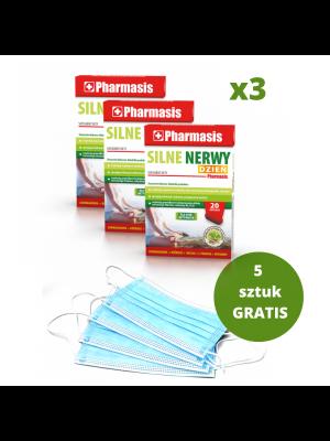 3x Silne nerwy + 5x maseczek medycznych GRATIS