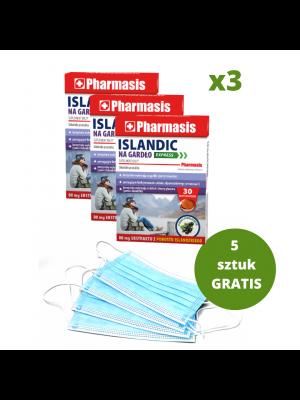3x Islandic + 5x maseczek medycznych GRATIS
