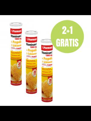 Vitaminum C 1000 MG + Propolis + Echinacea 2+1 GRATIS
